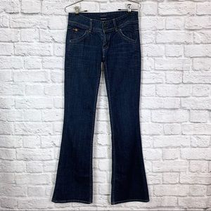 "Hudson Signature Boot Cut 25 Dark Wash 33"" 'inseam"